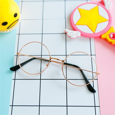 Girls Fashion Vintage Round Circle Glasses Cute Metal Frame (Coach Glasses On Sale)