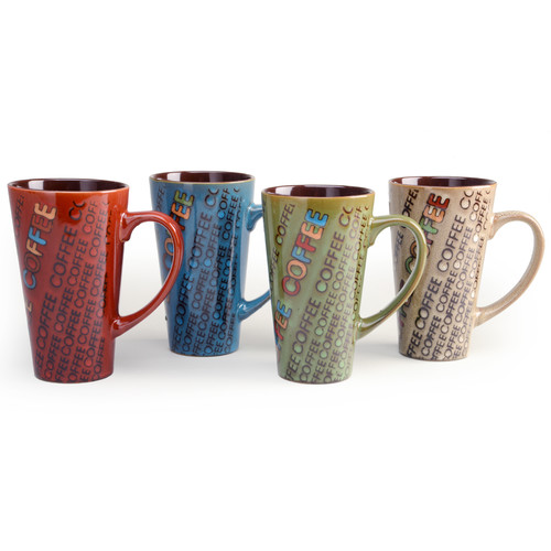 Signature Housewares Reactive Lattes Mug (Set of 4)