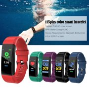 Bluetooth Sport Fitness Smart Watch Wrist Band Bracelet Heart Rate Monitor Activity Tracker For Android iOS(Red)