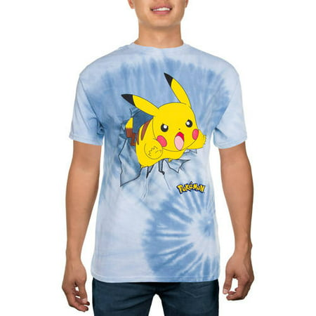 a3da19095 Gaming - Pokemon Men's Pika Crash Tie Dye Graphic Tee - Walmart.com