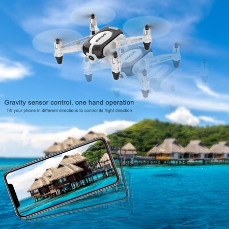 GoolRC T700 720P Wifi FPV Mini Selfie Drone G-Sensor Altitude Hold RC Training Quadcopter w/ 3 Battery for Beginners Kids - image 4 de 7