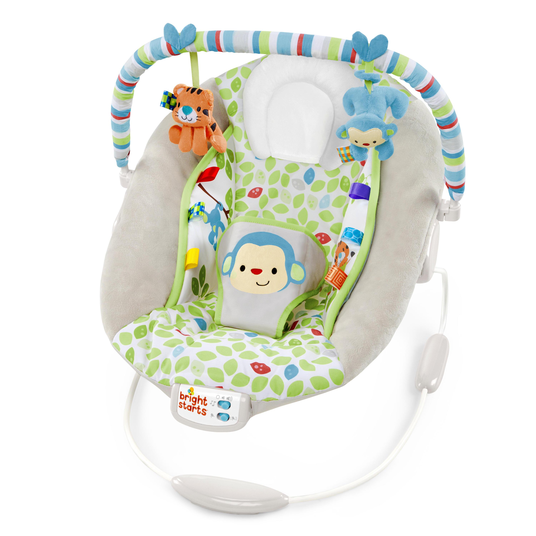 f5c9781198e9 Bright Starts Merry Monkeys Cradling Bouncer - Walmart.com