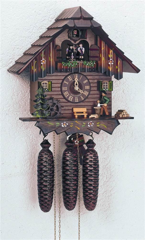 8-Day Chopper Chalet Style Black Forest House Cuckoo Clock by Schneider Cuckoo Clocks