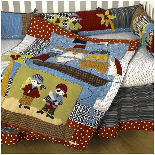 Cotton Tale Pirates Cove 4 Piece Crib Bedding Set