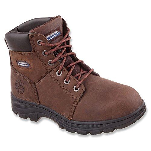 Skechers Men's Workshire ST Crazy Horse Dark Brown Leather 7 M W44Us