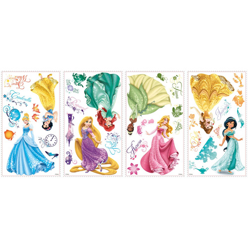 Disney Princess Royal Debut Peel And Stick Wall Decals Part 44