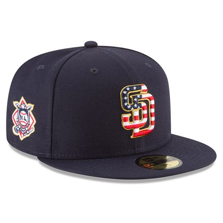 sports shoes 2308d acb95 San Diego Padres New Era 2018 Stars   Stripes 4th of July On-Field 59FIFTY  Fitted Hat - Navy