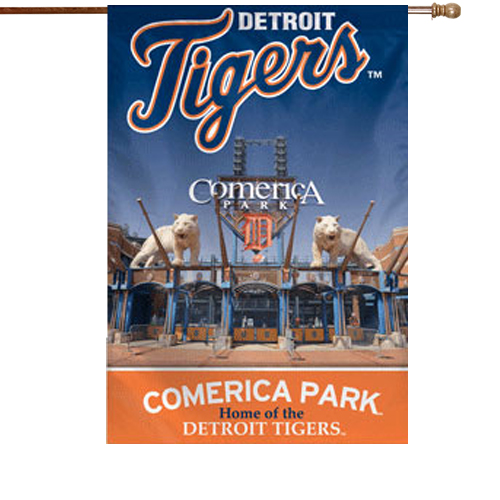 Detroit Tigers Double-Sided 28'' x 40'' Banner - No Size