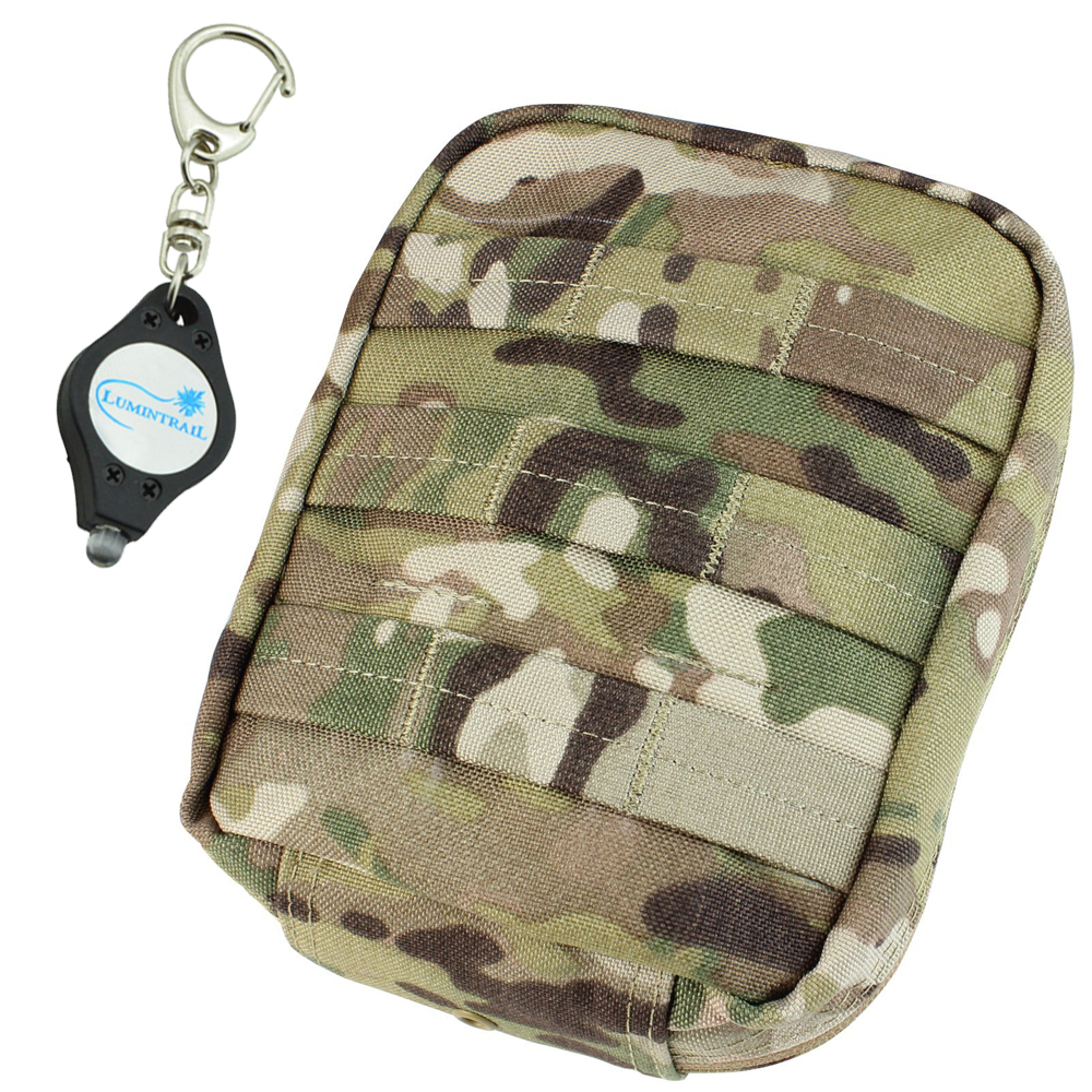 CONDOR MULTICAM Tactical EMT Medic First Aid Tool Pouch - MA21 PLUS 1 Lumintrail Keychainlight