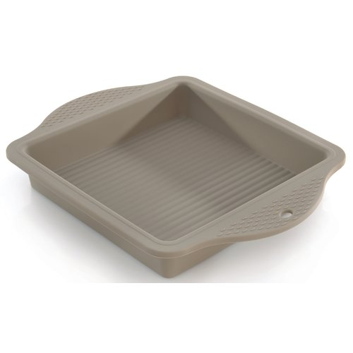 "Click here to buy Berghoff StudioSilicone Square Cake Mold 11.75 x 8.75 x 1.5"" by BergHOFF International."