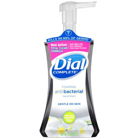 (4 pack) Dial Complete Antibacterial Foaming Hand Wash, Soothing White Tea, 7.5 Oz