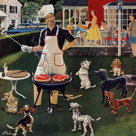 Marmont Hill Hot Dogs by Ben Kimberly Prins Painting Print on Wrapped Canvas