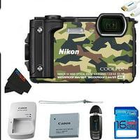 Nikon Digital Camera COOLPIX W300 GR COOLPIX Camouflage Waterproof + Pixi-Basic Accessory Kit