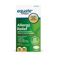 Equate All-Day Allergy Tablets, 10 mg, 90 Count