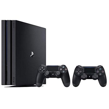 Refurbished PlayStation 4 Pro Console Bundle 2 Items: PS4 Pro 1TB Console And An Extra PS4 Dualshock 4 Wireless Controller Jet