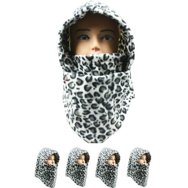 White & Black Leopard Design Fleece Winter Ski Mask, Pack of 72 - image 1 of 1