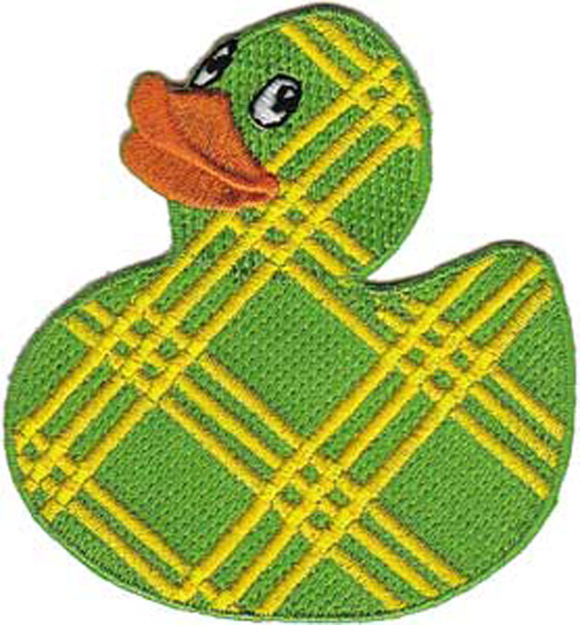 Patch - Animals - Plaid Rubber Ducky Iron On Gifts New Licensed p-3731