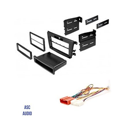 ASC Audio Car Stereo Radio Install Dash Mount Kit and Wire Harness for installing an Aftermarket Radio for 2007 2008 2009 Mazda CX-7 CX7 - Includes Factory Clock Adjust T Wire Harness