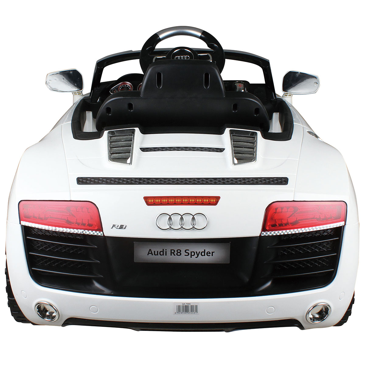 Costway White Audi Kids V Electric Ride On Car With MP RC - Audi r8 6v car
