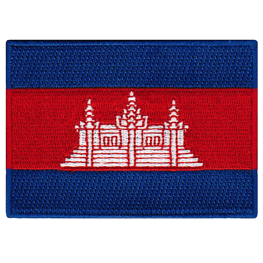 Cambodia Flag Embroidered Iron-on Patch