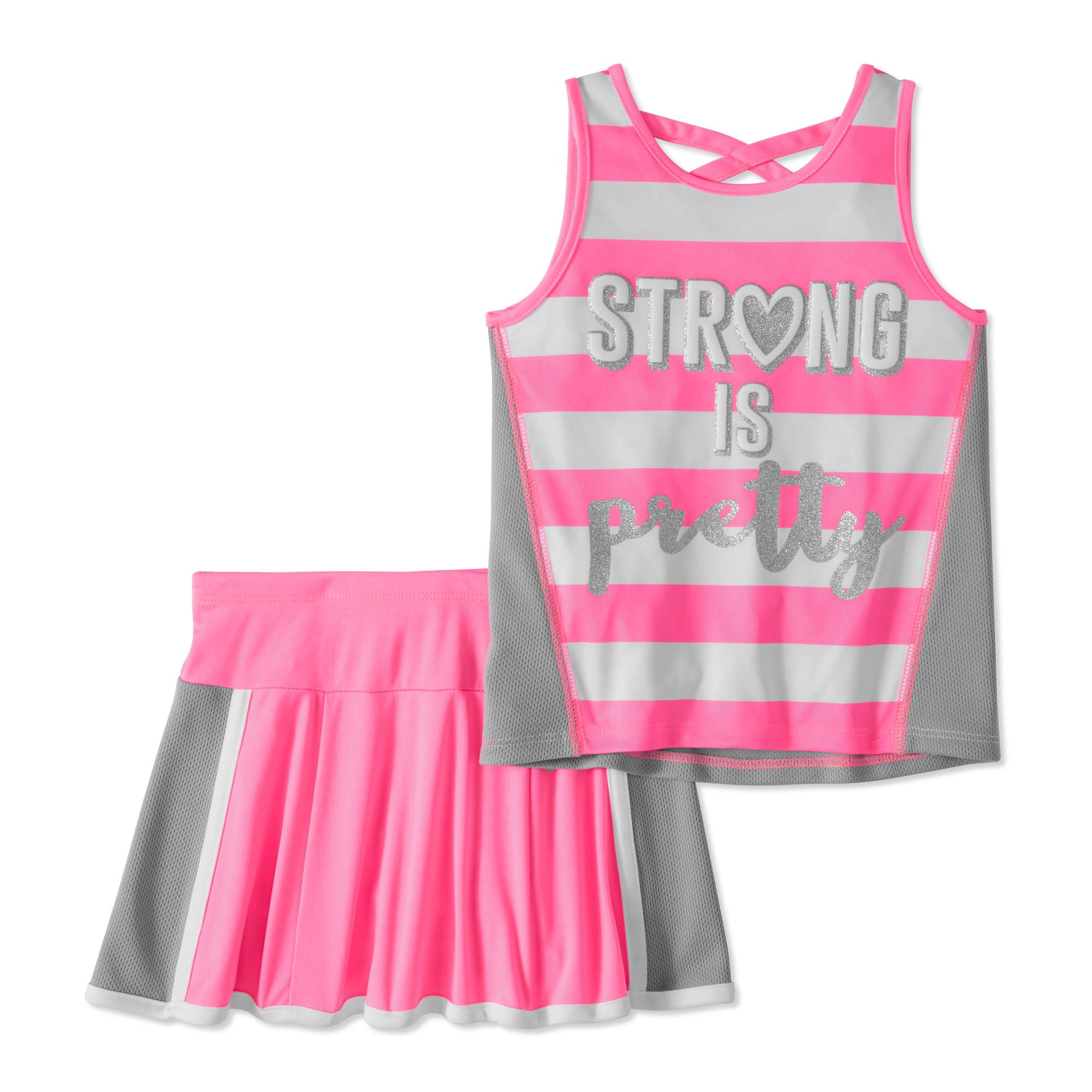 Healthtex Toddler Girl Tank & Scooter Skirt, 2pc Active Outfit Set