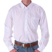 Cinch Mens   Pinpoint Oxford Long Sleeve Shirt X-Large White