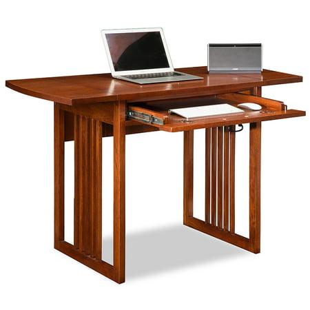 (Leick Home Mission Oak Drop Leaf Computer/Writing Desk)