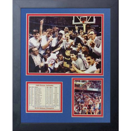 1988 Kansas Jayhawks Basketball - Legends Never Die 1988 Kansas Jayhawks Collage Photo Frame, 11