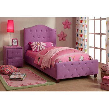 Diva Upholstered Solid Wood Frame Twin Child Bed