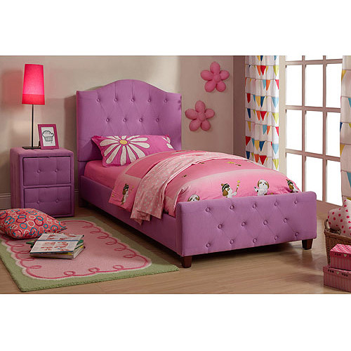 Diva Upholstered Twin Bed, Purple