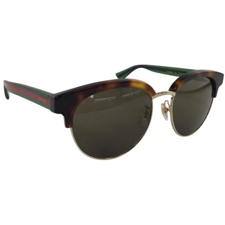 Gucci GG 0058SK 003 Brown Green Avana Red Plastic Sunglasses 55mm