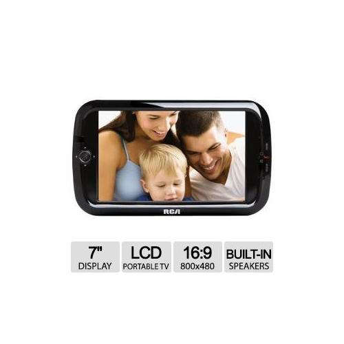 """Refurbished RCA 7"""" LCD Portable TV - 800x480, Channel Labeling, Auto Program, Favorite Channel Selection, Closed Caption, Dolby Digi"""