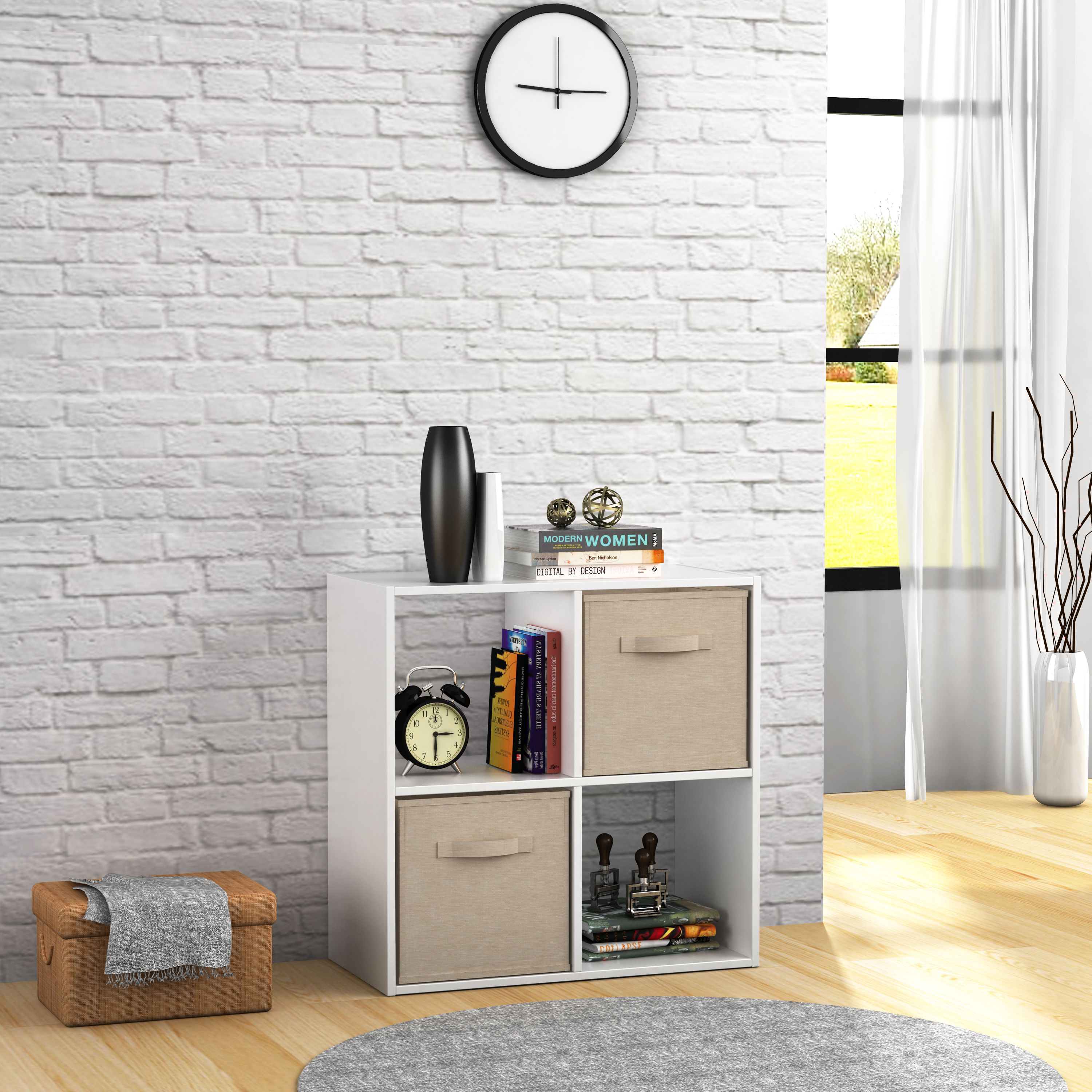 Mainstays 4 Cube Storage Organizer, Multiple Colors