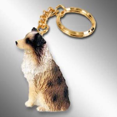 DTK99D CON Australian Shepherd Brown w/Docked Tail Key Chain