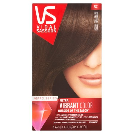 Vidal Sassoon Pro Series 5C Medium Cool Brown Permanent Hair Color Kit  1 Application