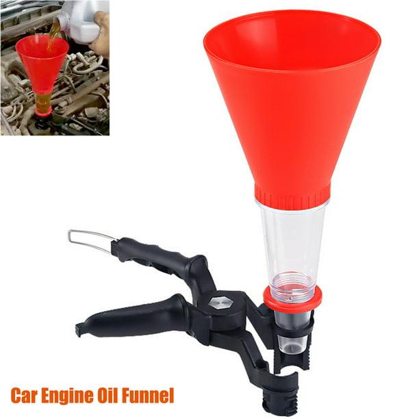 Car Engine Oil Funnel Adjustable Non-leak Add