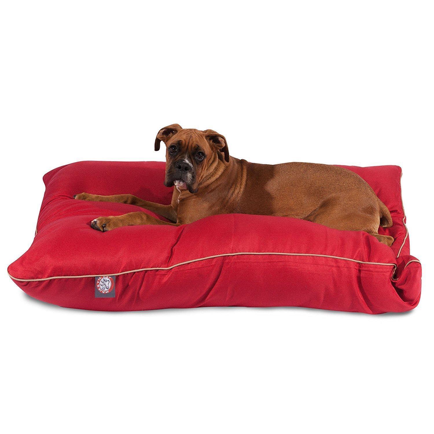 "Majestic Pet Solid Color Super Value Dog Bed Machine Washable Red Large 35"" x 46"" x 7"""