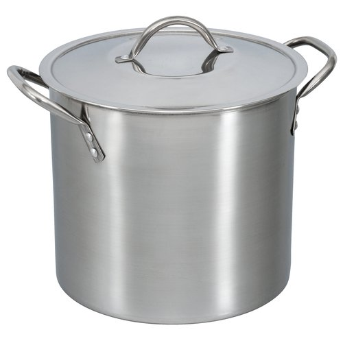Mainstays 8-Quart Stock Pot with Lid, Stainless Steel