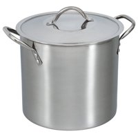 Deals on Mainstays 8-Quart Stock Pot with Lid, Stainless Steel