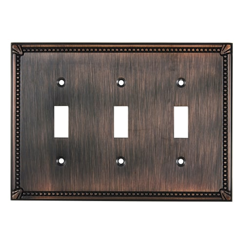 Richelieu BP86333 Triple Traditional Toggle Switch Plate from the Decora Collection