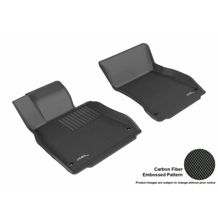 fb6fd4837ed 3D MAXpider 2014-2017 Mercedes-Benz S-Class (W222L) Front Row All Weather  Floor Mats in Black with Carbon Fiber Look - Walmart.com
