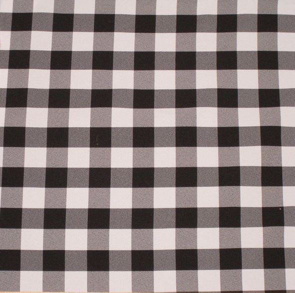 """20 Yards Checkered Fabric 60"""" Wide Gingham Buffalo Check Tablecloth Fabric Decor"""", (Color: Red)"""