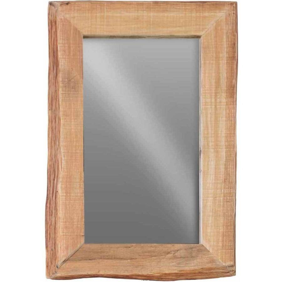 Urban Trends Collection: Wood Wall Mirror, Distressed Finish, Brown by Urban Trends Collection