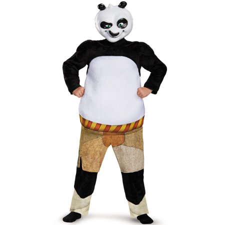 Kung Fu Panda Costumes (Panda-Po Deluxe Muscle Child)