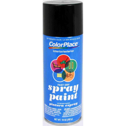 ColorPlace Flat Spray Paint, Black