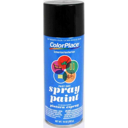 Colorplace Flat Spray Paint Black