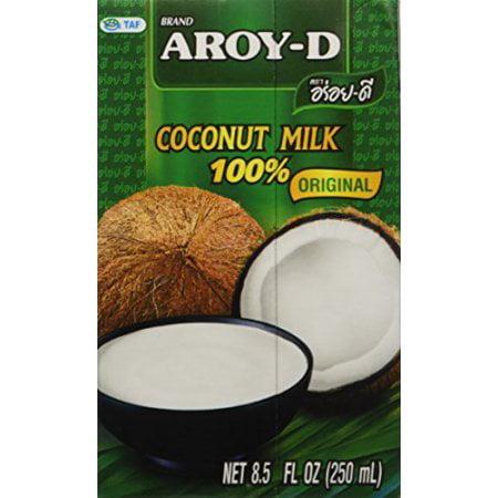 Aroy-D Coconut Milk 8.5 Oz 250ml Ounce (Pack of 4)