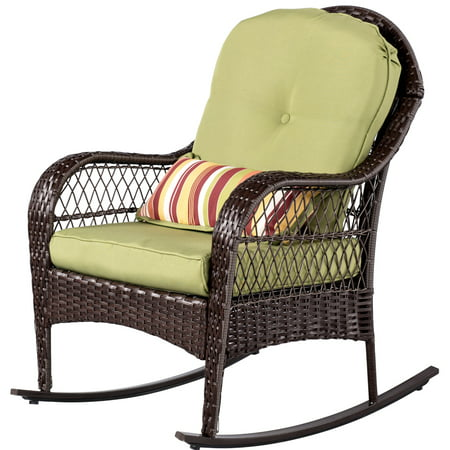 All Weather Wicker Rocker (Sundale Outdoor Wicker Rocking Chair Rattan Outdoor Patio Yard Furniture All- Weather with)