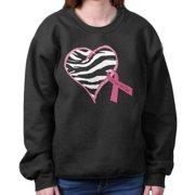 Breast Cancer Awareness Shirt | Zebra Heart Pink Ribbon Hope Sweatshirt