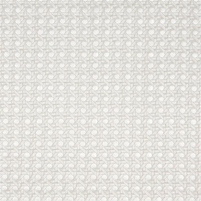 Designer Fabrics G673 54 in. Wide Pearl, Shiny Cross Hatch Upholstery Faux Leather